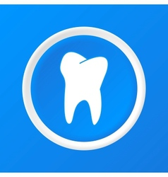Tooth 3d paper icon vector
