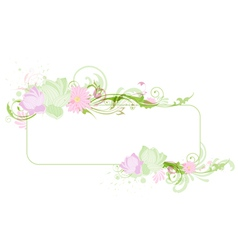 Lotus banner vector