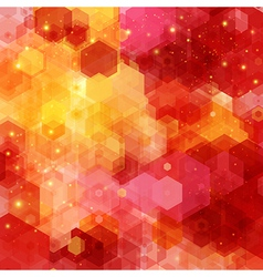 Bright hexagon pattern for your design vector
