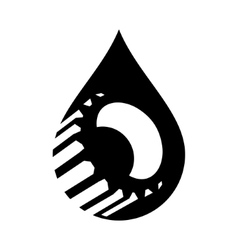Oil industry sign vector