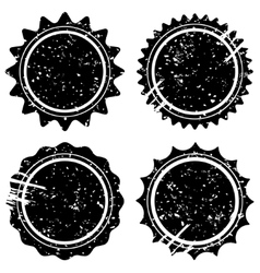 Retro grunge stamps and badges vector