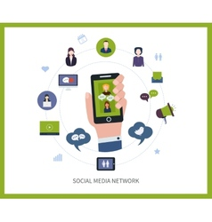 Communication and social media vector