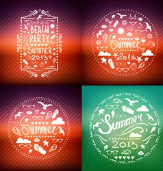 Creative graphic poster set for your design vector