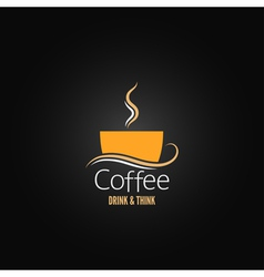 Coffee cup label concept menu vector