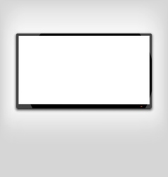 Lcd or led tv screen hanging on the wall - vector