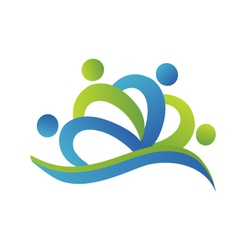 Teamwork people business logo vector