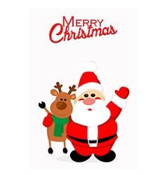 Santa and reindeer vector