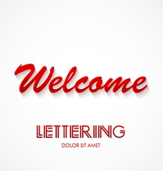 Welcome typography graphics lettering vector
