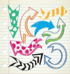 Arrow doodle vector