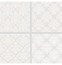 Seamless ethnic damask pattern vector