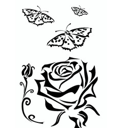Rose icons tattoo vector