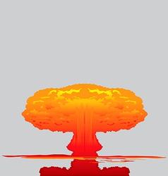 Mushroom cloud vector