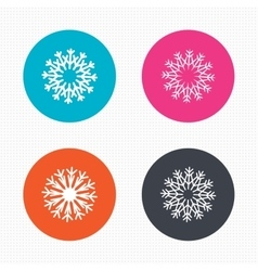 Snowflakes artistic icons air conditioning vector