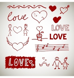 Love sceth romance doodles vector