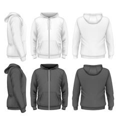 Men zip hoodie vector