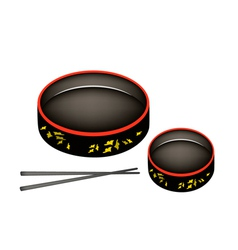 Two sushioke or round sushi serving platter vector