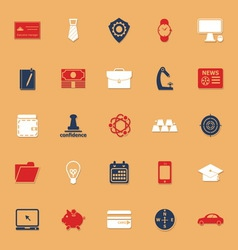 Businessman item classic color icons with shadow vector