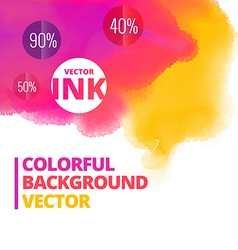 Ink splash colors background design vector