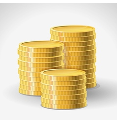Golden coins - abstract finance concept vector