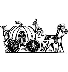 Cinderellas carriage vector