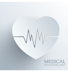 Polygonal medical heart background concept vector