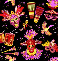 Brazilian carnival colorful background vector