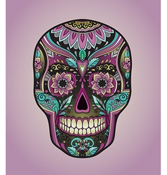 Print mexican traditional scull for t-shirt vector