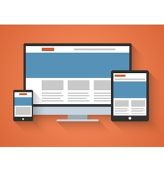 Responsive web design in flat style vector