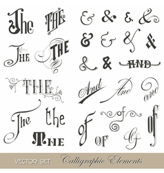 Calligraphic ands and thes - for design and scrap vector