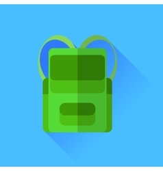 Green backpack vector
