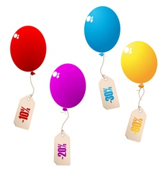Discount balloons vector