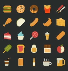 Food icons flat design vector