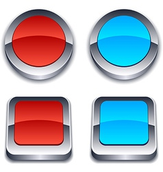 Realistic 3d buttons vector
