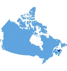 Map of canada - prince edward island province vector