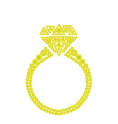Gold jewelery vector