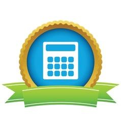 Gold calculator logo vector