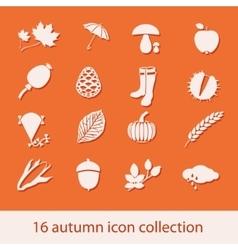 Autumn icon collection vector