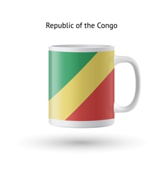 Republic of congo flag souvenir mug on white vector