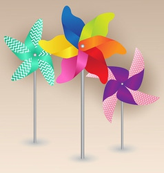 Colorful pinwheels design vector