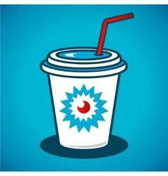 Milkshake in a paper cup vector
