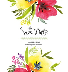 Greeting card with tulips vector