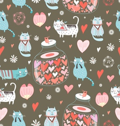 Texture of cat lovers vector