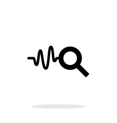 Cardiogram monitoring icon on white background vector