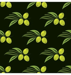 Seamless pattern with green olives vector