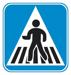 Pedestrian crossing sign vector