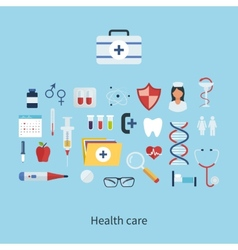 Health care and medical research vector
