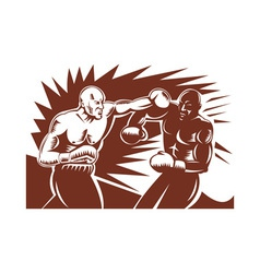 Boxer connecting knockout punch vector