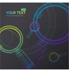 Magnifying glass background vector