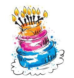 - funny cake vector
