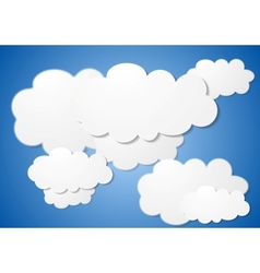 Abstract cloudy background vector